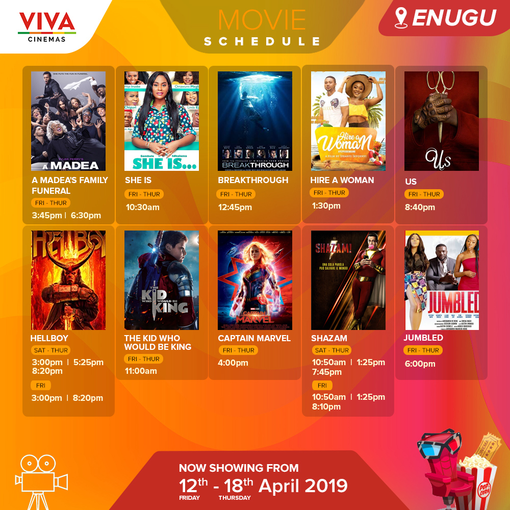 Viva, Cinemas, Movie, Nigerian, Ilorin, Enugu, Ibadan, Ota, Nigeria, New, 2019, Africa, Nollywood, Hollywood, Trailer, Download, Watch, Recent, Romance, Comedy, Drama, Action, Thriller, Sci-Fi, Horror, Full, Complete, Release, Video, Theater, Lagos, Funny, Animation, Schedule, March, View, Palms, Price, Ticket, Today, Tomorrow, Showtime, Poster, Igbo, Yoruba, Hausa, Current, March, April