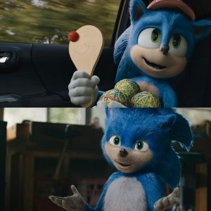 Sonic The Hedgehog before and After redesign.