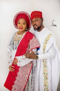 Toyin Abraham and her husband